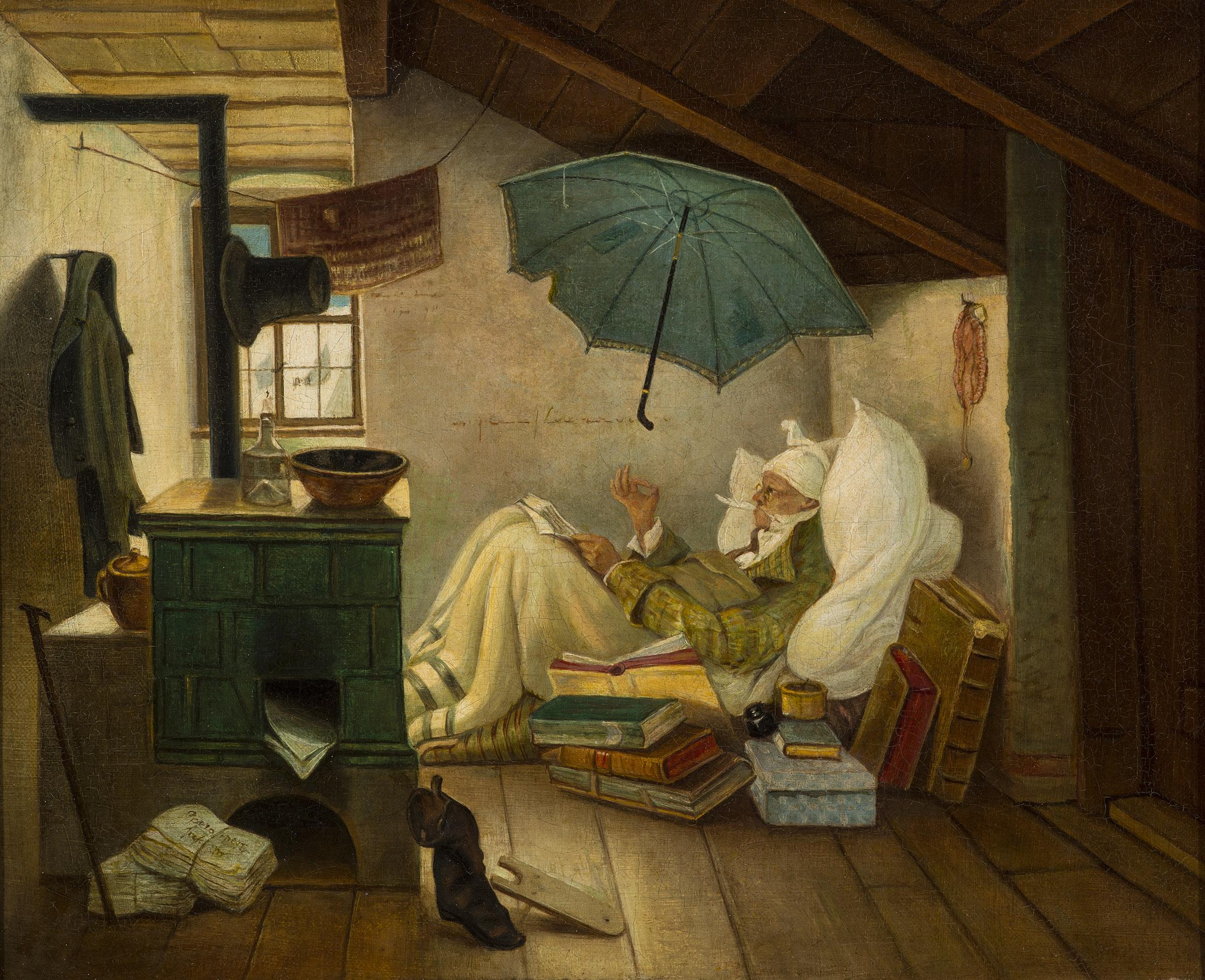 carl spitzweg the poor poet h labor arts h net. Black Bedroom Furniture Sets. Home Design Ideas